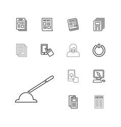 13 press icons vector