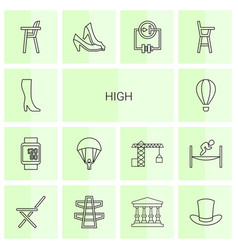 14 high icons vector