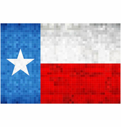 Abstract grunge mosaic flag of texas vector