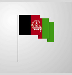 afghanistan waving flag creative background vector image