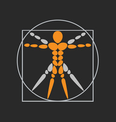 Anatomy logo icon design vector