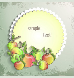 Apple banner vector