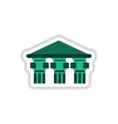 Architecture greek building doric temple vector