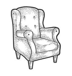 armchair sketch vector image