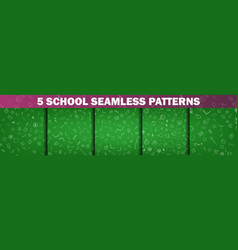 back to school set of school and education vector image