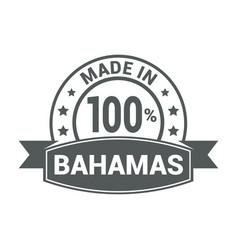 bahams stamp design vector image