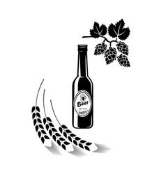 beer bottle logo barrel pub bar tavern brewery vector image