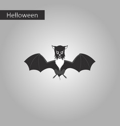 Black and white style icon of cute bat vector