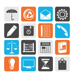 Black Business and Office internet Icons vector