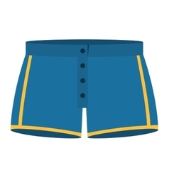 blue men swimming trunks icon vector image