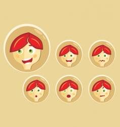 Boy expressions vector