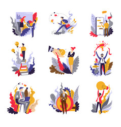 business concepts isolated icons startup and vector image