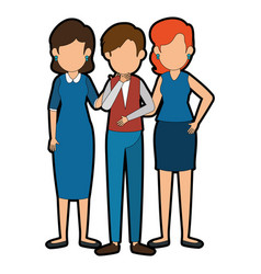 businesspeople standing icon vector image