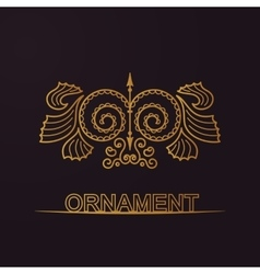 Calligraphic luxury symbol Emblem ornate decor vector image