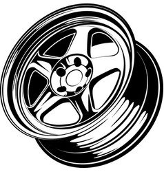 Car wheel 14 vector