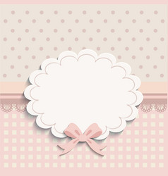 Card for little girls vector