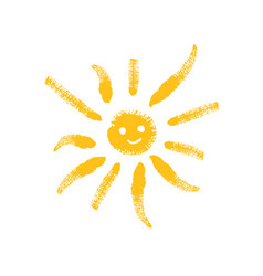 cartoon sun with trendy noisy texture vector image