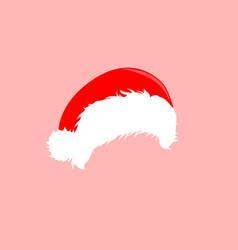 christmas hats icon santa claus costume vector image