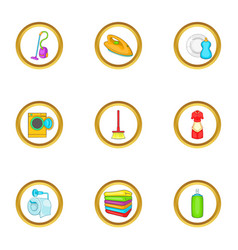 cleanup things icons set cartoon style vector image