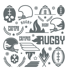 College rugby team badges vector image