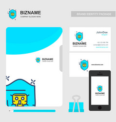 company brochure with company logo and stylish vector image