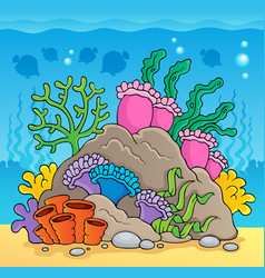 Coral reef theme image 2 vector