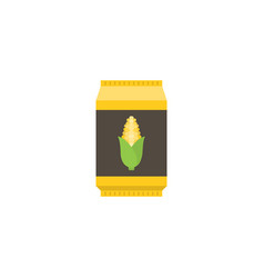 corn starch in paper package flat design icon vector image