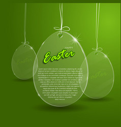 easter egg glass vector image vector image