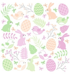 Easter Time Set vector image