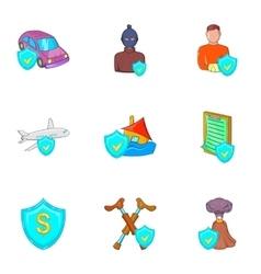 Emergency icons set cartoon style vector image