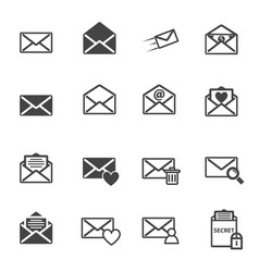 envelope letter and e-mail icon vector image