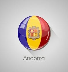 European flags set - Andorra vector image