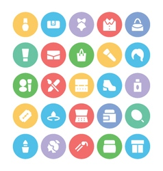 Fashion Colored Icons 5 vector image