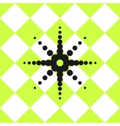 Floor ceramic tiles pattern green with black star vector