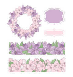 flower card creator wedding decoration illu vector image
