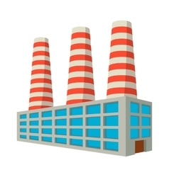 Fuel power station cartoon icon vector