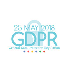 general data protection regulation gdpr compliance vector image