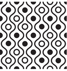 Geometric black and white minimalistic wavy vector
