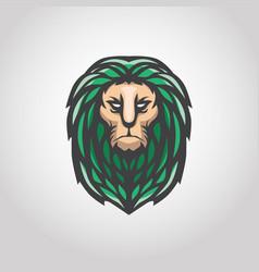 gree lion logo vector image