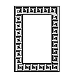 Greek key rectangle frame border vector