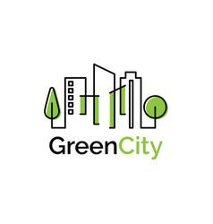 green city logo design template vector image
