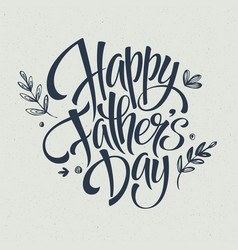 Greeting card template for Father Day vector