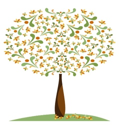 Greeting tree 1 vector