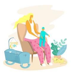 happy motherhood bacare concept for web vector image