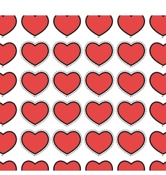 hearts pattern background icon vector image