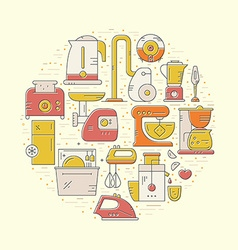 House appliances concept vector