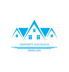 House insurance colourful flat vector