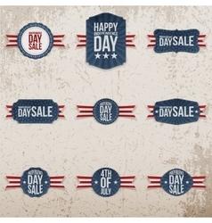 Independence Day Sale patriotic Emblems Set vector