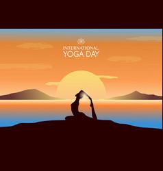 international yoga day banner vector image