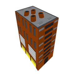 isolated isometric apartment building icon vector image